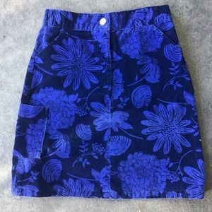 Lilly Pulitzer Blue Floral Girls Skirt